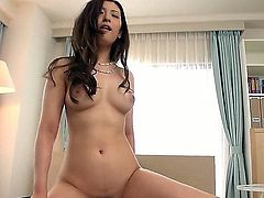 Long haired lovely Japanese MILF Yui Kasuga exposes her very nice boobs as she rides on top of cock from your point of view. Her exotic hairy snatch is dripping wet. Enjoy!