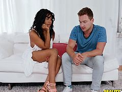 Sometimes you are lucky in life and you meet on the street such an ebony beauty as Jenna J Foxx, with big natural tits, pretty smile and round bubble butt. And then she also agrees to come to your home and to suck on your cock!!! It's like a fantasy, but this story happened to Van Wylde.
