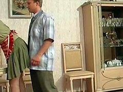 A mature blonde seduces a horny young guy5412