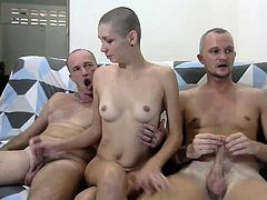 Lucky Guy Doggystyle Threesome
