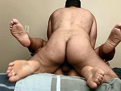 Cheating Latina fucked & filled by the Italian Stallion!