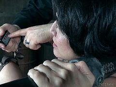 If you are looking for some bizarre bdsm stuff, then you will definitely like it. Submissive Mia Torro gets her pussy tortured, then she will be subjected to humiliation, pain play, and sex. Really tough bdsm treatment! Have fun!