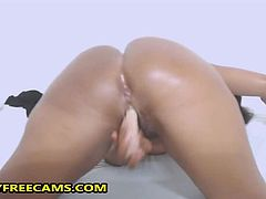 Are you ready for some hot webcam solo masturbation and super big fat ghetto ebony booty in your face?If you are pull out your cock and jerk off like never before watching this sexy big ass ebony doing her best to please you.After she fucked her dildo in doggy style and reverse cowgirl pose she spread her legs and continued pounding her big fat trimmed pussy really deep and hard.