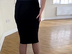 tight skirt pantyhose high heels 5