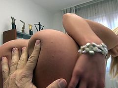 Hot blooded stud Rocco fucks naughty blonde Cecilia Scott