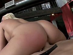 Britney Amber is a sex obsessed lovely blonde with nice ass and big breasts. She shows off her gorgeous nude body as she gets her pink cunt drilled by stiff dick in steamy sex action.