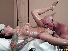 Well, perhaps I will agree that Johnny is a dirty masseur and massages is not his vocation, but who cares. As long as he knows hot to properly lick his client's pussies, he will never be left without work. His tongue work wonders!