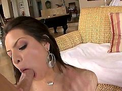 Tattooed round ass brunette Yurizan Beltran gets her asshole licked and her pussy banged from behind before man fucks her  wet huge tits. She strokes the jizz out of his sausage with her massive knockers like a pro.
