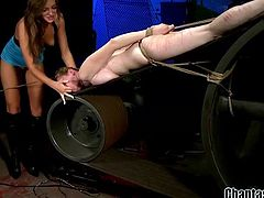 Have you ever seen brutal australian lezdom destruction and rope bondage? No? Now here is your chance to enjoy how hot busty milf, Rain DeGrey, will be punished by Nika Noire. Pull your dick out of your pants and have fun!