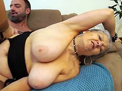 Busty granny Savana is one really horny mature, that is always ready to caught some stranger's dick, to put it in her aching pussy. This time she was lucky and picked one really huge cock. Let's see how she will use it..