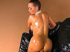 Curvy Nikki Benz looks like Kim in this hot porn parody. Big titted brunette gets her oiled up huge bubble butt banged from behind on the couch for your viewing enjoyment. Her wet bottom is amazing!