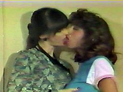Vintage Christy Canyon storeroom homosexual fondling-nonude