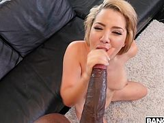 When I showed Alix my black monster cock, I noticed at the same time admiration and fear in her eyes. She was genuinely delighted with the size, but was afraid that she would not be able to accommodate it. We tried and...