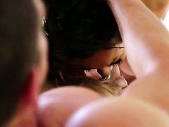 Dangerously sexy chick Asa Akira does dirty things and then gets her nice face covered in love juice