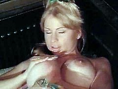 Energetic Julia Ann bouncing on a stiffy on a car shamelessly