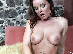 Silvia Saint is in heat in solo scene, HotShame.com