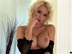 But this big breasted blonde is resourceful, playing with her own nipples and teasing her clit to start the sexual satisfaction shes craving. Caylians got a silver dildo that she pushes into her ass while she masturbates to the fantasy of getting fucked in all her holes in a hot gangbang This slut gets so hot she squirts