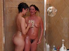 From their tongue, to a vibrator to a strap on this lesbian action loves the hairy busy.