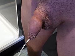 My pissing and growing cock
