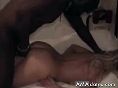 A very old white couple hires a big black dude to have an interracial cuckold with them.