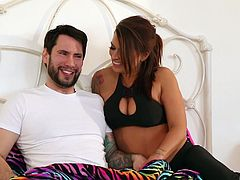 Nothing makes Eva Angelina happy like a trembling dick in her pussy
