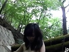 Luscious chick drilled hard in public
