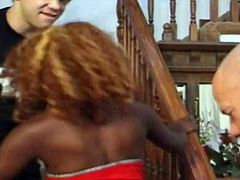 MOCHA-Ebony Model Gets DP By Two Horny White Guys