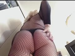 my ass with  combi fishnet