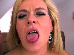 Marina Montana - German Big Saggy Tits DP Stockings