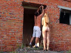 Hard outdoor BDSM with my slave Natasja