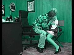 Secretary in an old-fashioned fuck (Recolored)