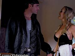 MILF Brandi Love & Hubby Have Erotic 3some With Teen Sitter
