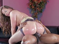 Insane anal scenes in interracial XXX with Maddy OReilly