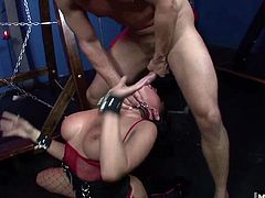Tory Lane is in for a kinky fun time, with a rather intense bondage experience