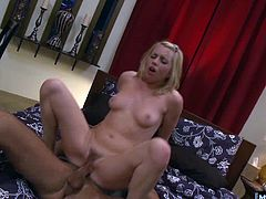 He licks her pussy and then she sucks his big dick. He pounds her wet pussy from below and from a sexy standing position that turns her on so much. She can barely balance in her pink converse after the XXX fucking.