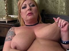 If your lusty neighbor has tattoos and tits spilling out of her tops, shes still horny as hell Better yet, she knows what to do with all that sexxxy BBW flesh This old gal takes dick into all her holes and uses her giant juggs to fuck cock like a pro.