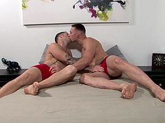 Watching two muscular army gay men undress, exchange touches and kisses and suck dick, is probably one of the hottest scene you'll ever watch. You'll be rock hard in a second. These beefed up hunks love to suck and fuck hard. Join us right away at Active Duty and enjoy!