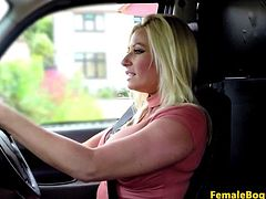 English milf cabbie pounded in taxi