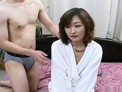 Hairy Asian double teamed