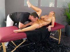 Brooklyn Chase oiled up and fucked