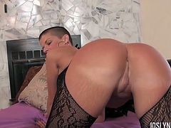 Joslyn James wearing sexy see-through lingerie and getting fucked