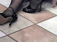 Bathroom Black Stockings Part 1