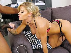 Who wouldn't love to spend some private time with a beauty like Jessa?! Just imagine having her sexy body at your disposal to fulfill all your desires. This time Isiah Maxwell is ready to present her his big black cock. Watch and have fun!