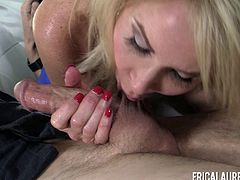 Erica Lauren is a mature lady who loves choking on a boner
