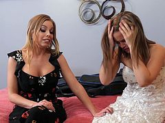 Britney Amber having passionate lesbian sex with her step mom