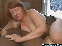 Black Guy Fucks White BBW Milf