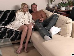Patrisha and her man share another round of honeymoon humping on the couch.