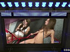 Lucy's First Wild Sybian Ride