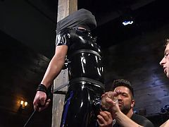 believe me, in a few minutes this lucky blindfolded gay guy in a black latex suit, Matt Anthony, will experience a completely unforgettable feelings. Join Men On Edge and enjoy hot gay men tied up and begging to cum! Hot stuff!
