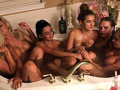 Group of girls in a tub 2
